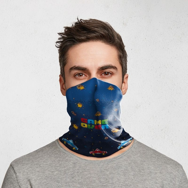 Game Over Neck Scarf Face Covering