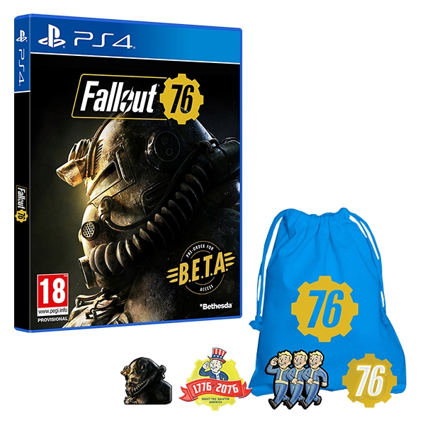 fallout 76 ps4 game exclusive pin badge set inc beta. Black Bedroom Furniture Sets. Home Design Ideas