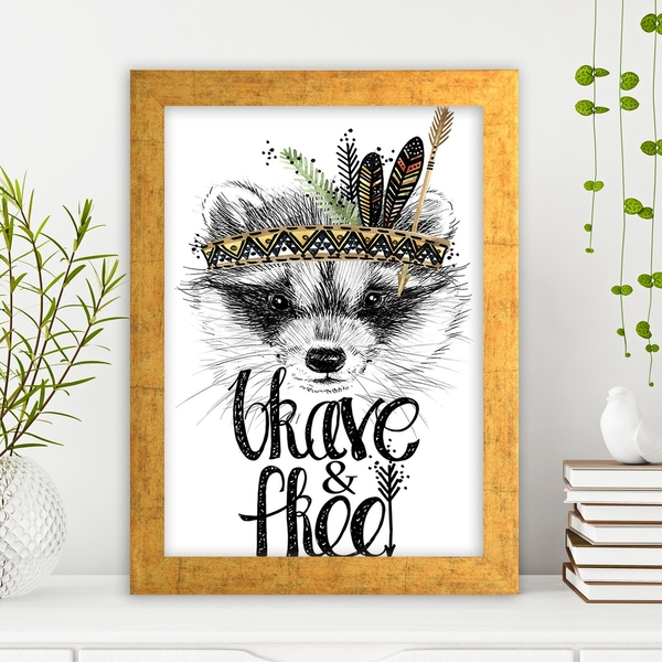AC547838173 Multicolor Decorative Framed MDF Painting
