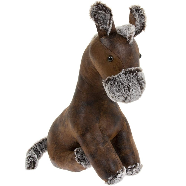 Faux Leather Horse Doorstop By Lesser & Pavey