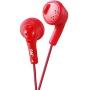 JVC Gumy Bass Boost Stereo Headphones Rasberry Red