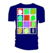 Doctor Who - Silhouette Grid Multi Blue Men's Medium T-Shirt - Blue