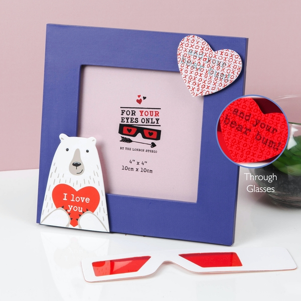 For Your Eyes Only X-Ray I Love You Photo Frame |4x4