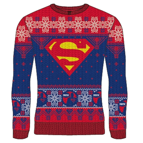 DC Superman - Logo Unisex Christmas Jumper Large