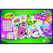 Crayola Shopkins Giant Colouring Pages Book