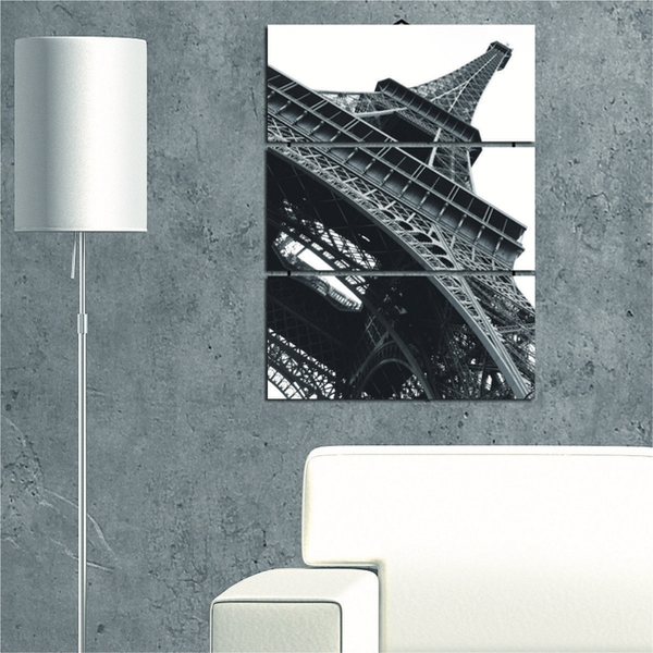 Eiffel Tower Decorative MDF Painting (3 Pieces)