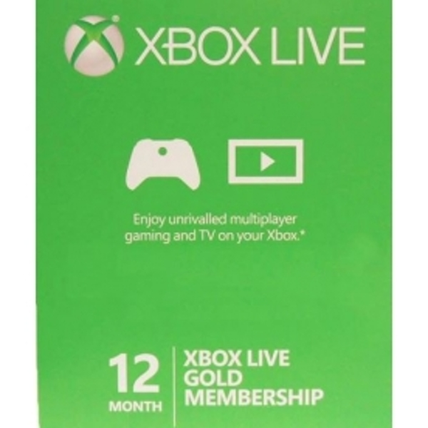 12 Month Xbox Live Gold Prepaid Subscription Card Key Xbox 360 & One - EBAY