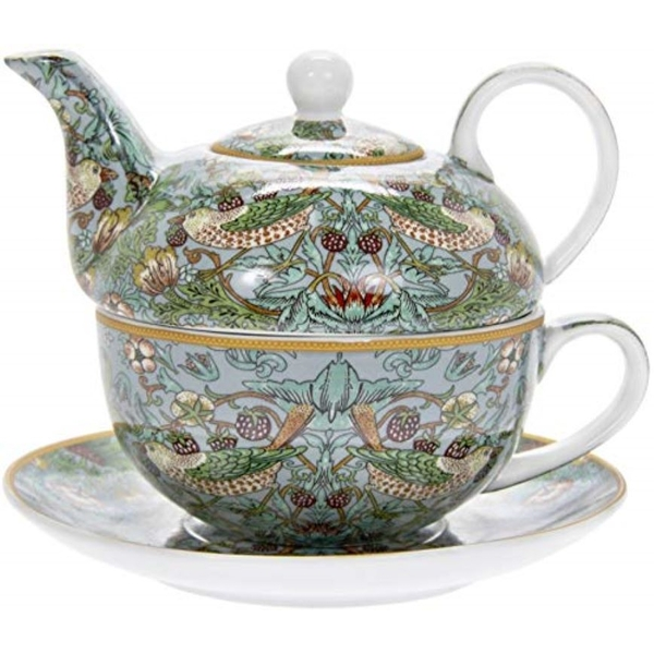 Strawberry Thief Teal Tea For One By Lesser & Pavey