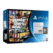 PlayStation 4 (500GB) White Console with GTA V