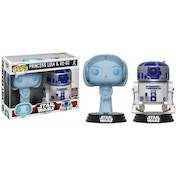 Ex-Display Holographic Princess Leia & R2-D2 (Star Wars) Funko Pop! Vinyl Figure Used - Like New