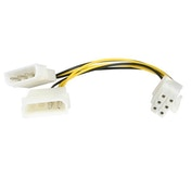 StarTech 6in LP4 to 6 Pin PCI Express Video Card Power Cable Adapter
