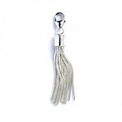 Clip-On Charm Sterling Silver Tassel