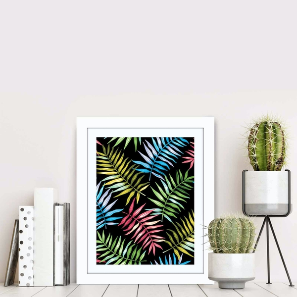 BCT-079 Multicolor Decorative Framed MDF Painting