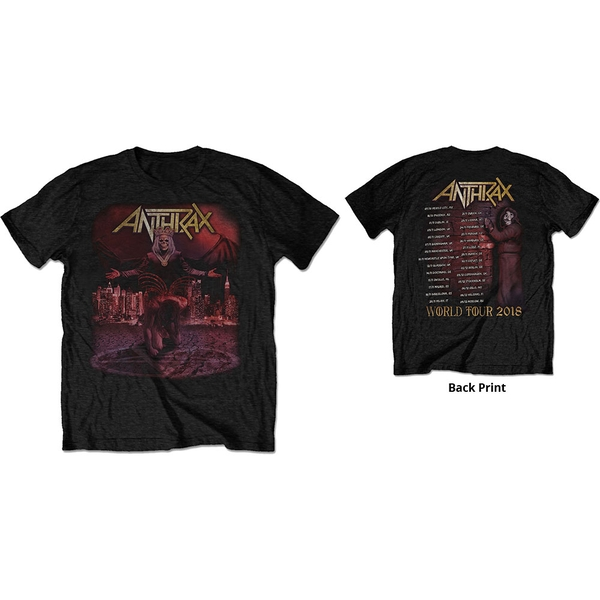 Anthrax - Bloody Eagle World Tour 2018 Men's Large T-Shirt - Black