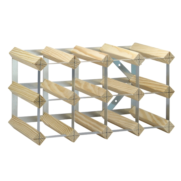 Wood & Metal Wine Rack | M&W