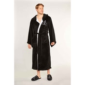 Deathly Hallows Harry Potter Mens Black Fleece Robe