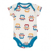 Kite Kids Baby-Boys 6-12 Months Owl Bodysuit Animal Print Vest