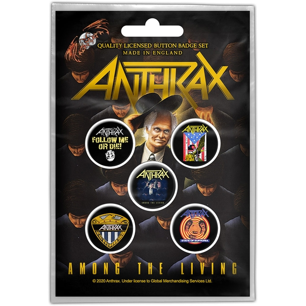 Anthrax - Among the Living Button Badge Pack