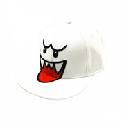 Nintendo Super Mario Bros. Boo Flex Fit Baseball Cap - White