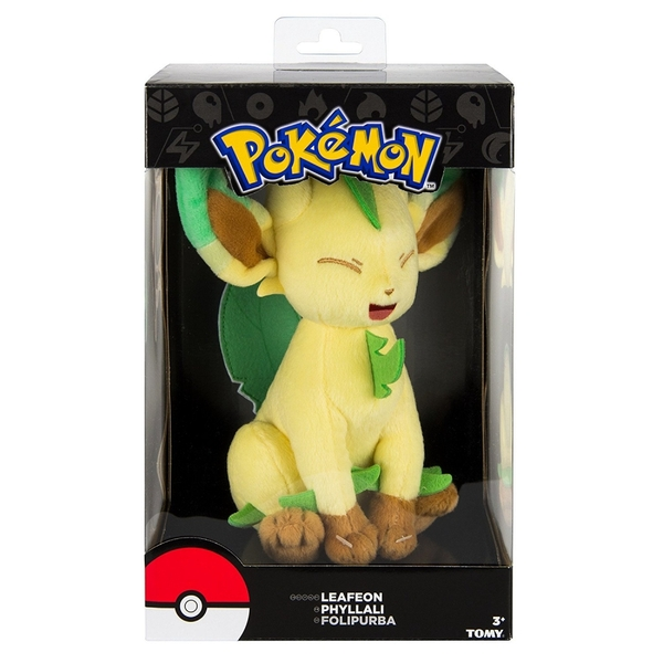 e09d2351 Pokemon Eevee Evolution Leafeon 8 inch Collectable Plush Toy ...