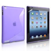 Caseflex iPad Mini 2  3 S-Line Gel Tablet Case - Purple