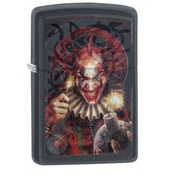 Zippo Anne Stokes Evil Clown Black Matte Finish Windproof Lighter