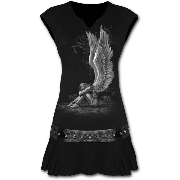 Enslaved Angel Women's Medium Stud Waist Mini Dress - Black