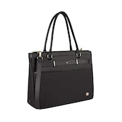 """Wenger 605496 ZOE 16"""" Women's Business Tote Bag, Padded laptop compartment with Expandable Main Compartment in Black {14 Litres}"""