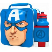 Captain America (Avengers) 3D Childrens Lunch Bag With Bottle
