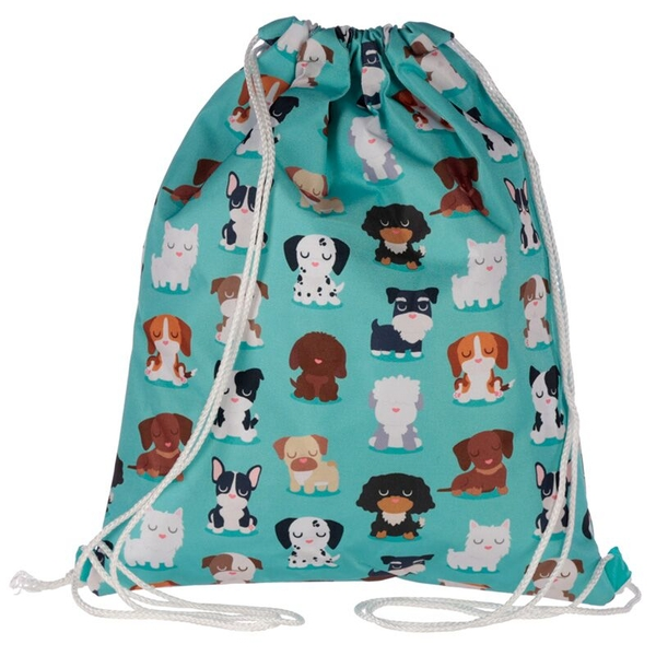 Fun Cute Dog Squad Design Handy Drawstring Bag