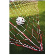 PT Football Goalnets : 3.5mm Knotted (Red/White)