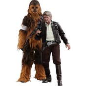 Hot Toys Han Solo & Chewbacca Star Wars: The Force Awakens Figure Set
