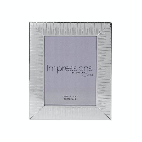 Ridged Silver Plated Photo Frame (5 x 7)