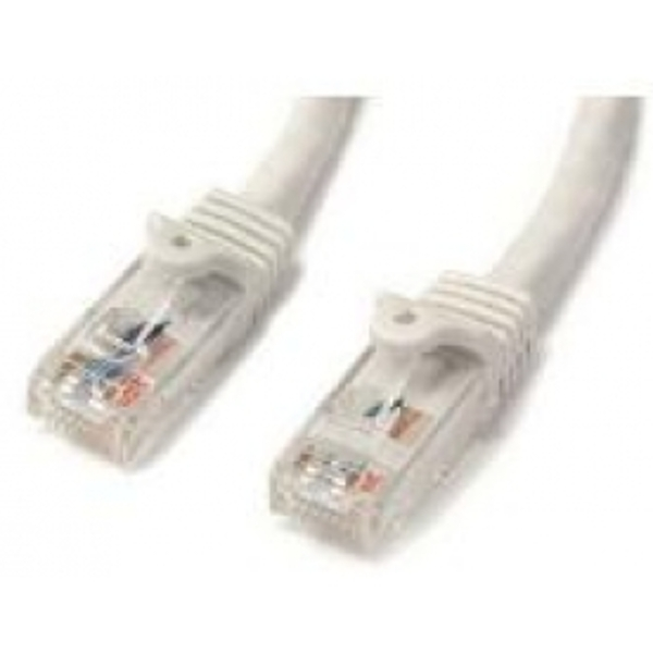 StarTech White Gigabit Snagless RJ45 UTP Cat6 Patch Cable - Patch Cord (1m)