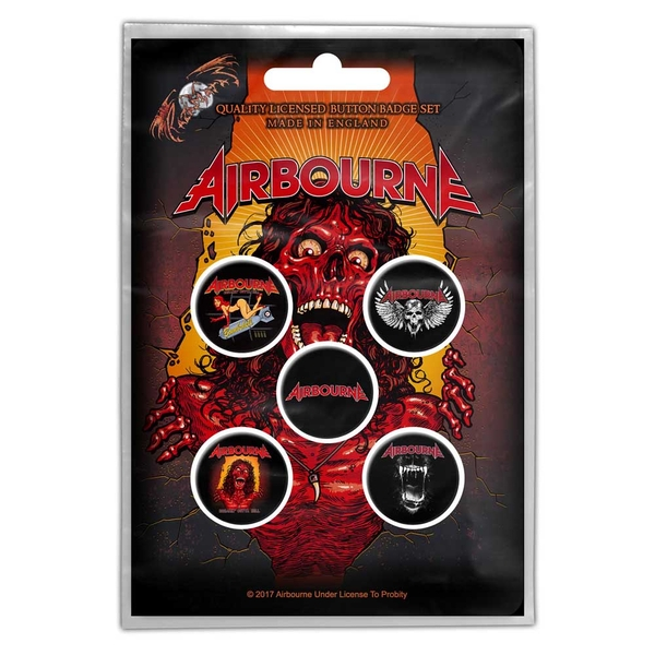 Airbourne - Breakin' Outta Hell Button Badge Pack