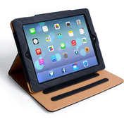 Caseflex iPad Air Leather Effect Stand Case - Black