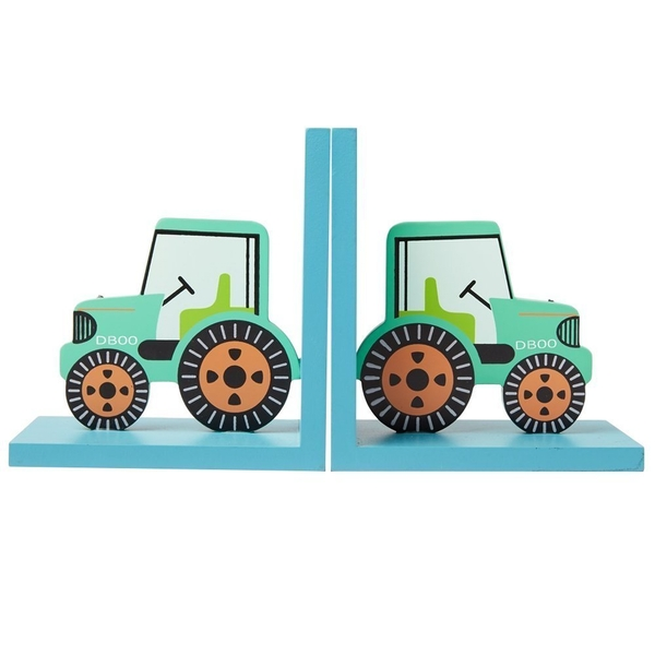Sass & Belle Green Tractor Bookends