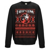 Harley Quinn Fair Isle Unisex X-Large Christmas Jumper - Black