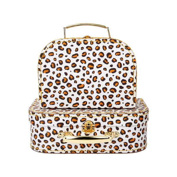 Sass & Belle (Set of 2) Leopard Love Suitcases