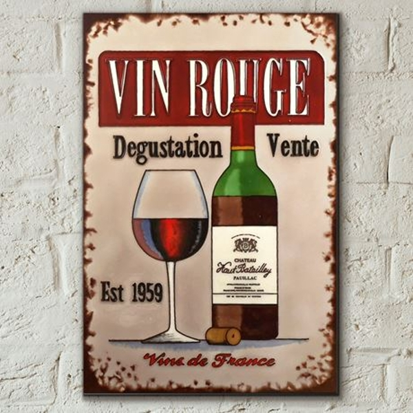 Tile 8x12 Vin Rouge By Martin Wiscombe Wall Art