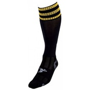 PT 3 Stripe Pro Football Socks Boys Black/Gold