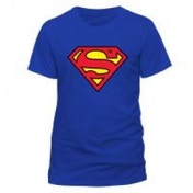 DC COMICS Superman Logo T-Shirt, Unisex, Medium, Blue