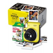 Fuji Instax Mini 70 Instant Camera Yellow inc 10 Shots