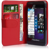 YouSave Accessories Blackberry Z10 Leather-Effect Wallet Case - Red