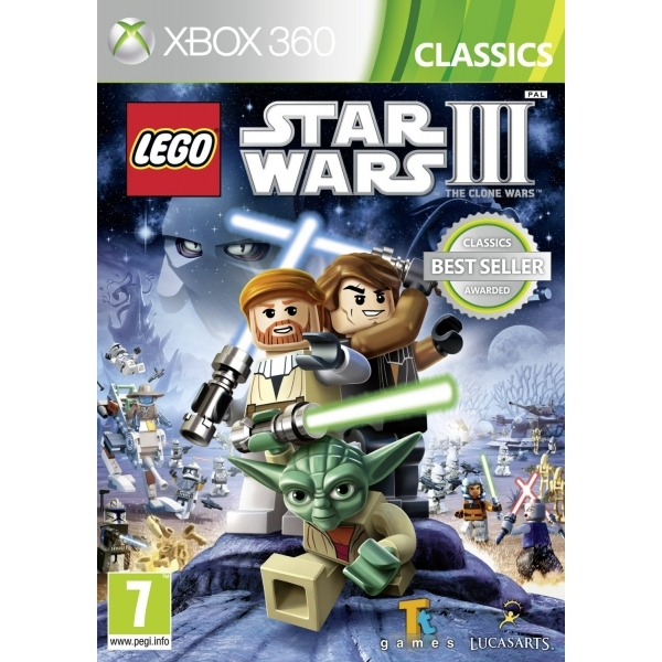 Lego Star Wars III 3 The Clone Wars (Platinum Family Hits) Xbox 360