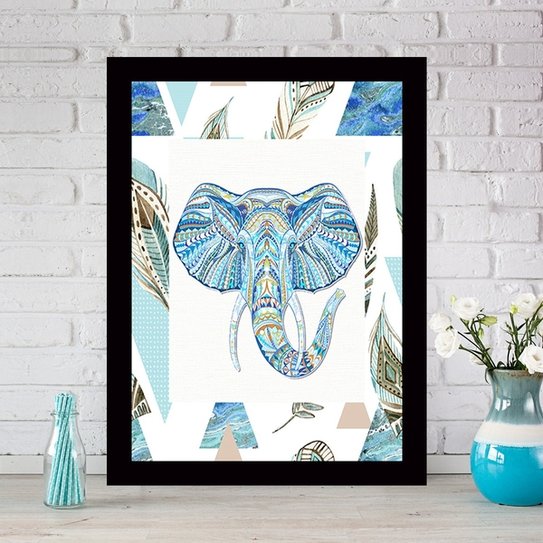 SCZ2918020822 Multicolor Decorative Framed MDF Painting