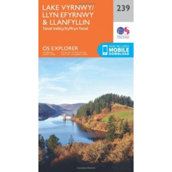 Lake Vyrnwy and Llanfyllin, Tanat Valley by Ordnance Survey (Sheet map, folded, 2015)