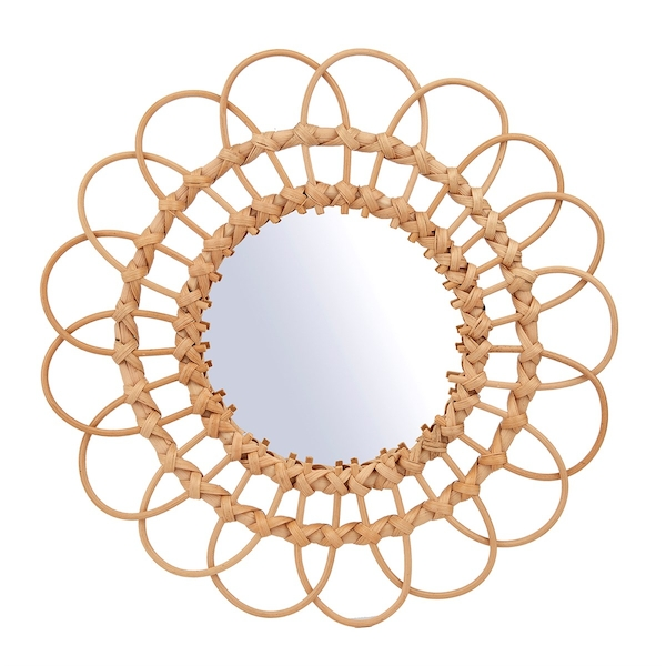 Sass & Belle Rattan Mirror Large
