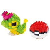 Nanoblock Pokemon Caterpie & Poke Ball Building Set