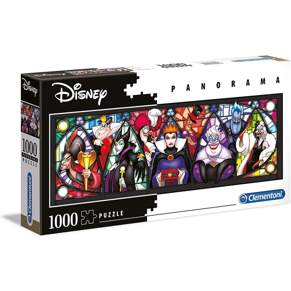 Clementoni Disney Villains Panorama Jigsaw Puzzle - 1000 Pieces
